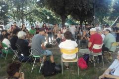 Zibechi in piazza Tasso